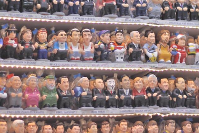 Caganers, figurines in a Catalan Nativity Scene