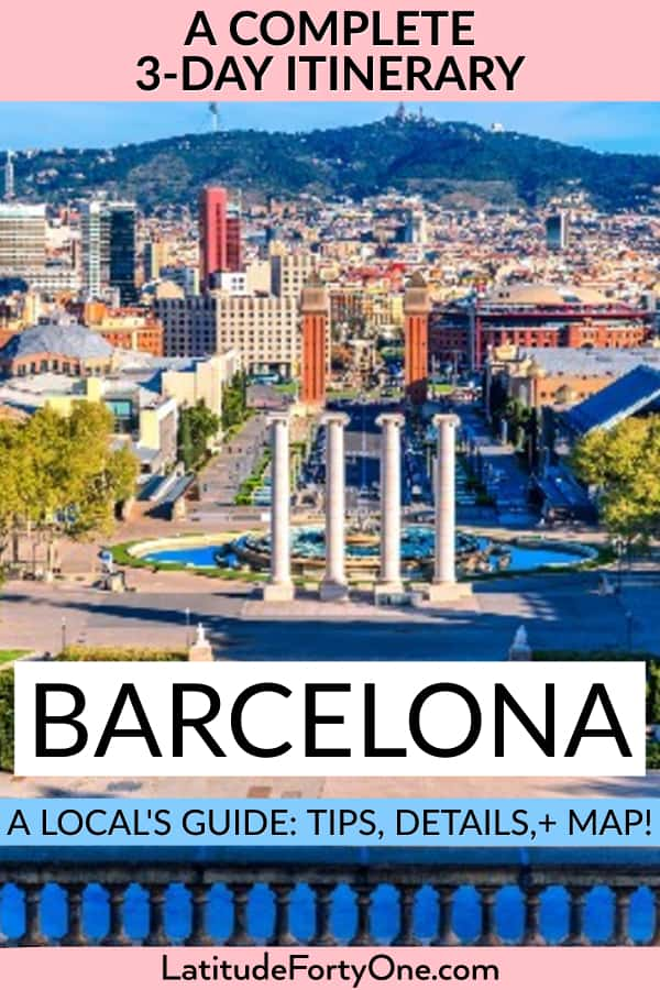 How many days do you need in Barcelona? 3 days is good! Read the full itinerary of tips, details, and a map.