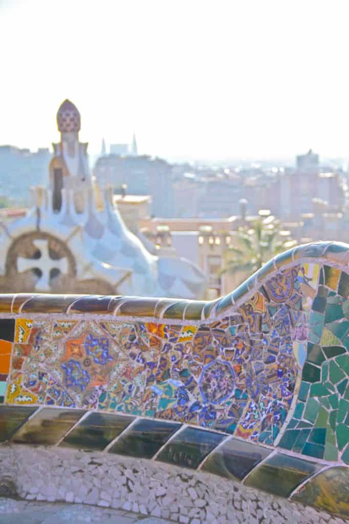 Park Guell, a great place to see the sunset, Barcelona.