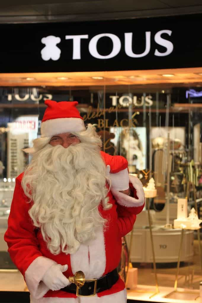 Papa Noel at El Corte Ingles