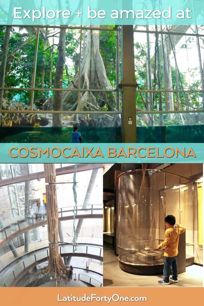 CosmoCaixa Barcelona: an Amazon flooded forest, planetarium, and interactive experiments. The best science museum in Barcelona