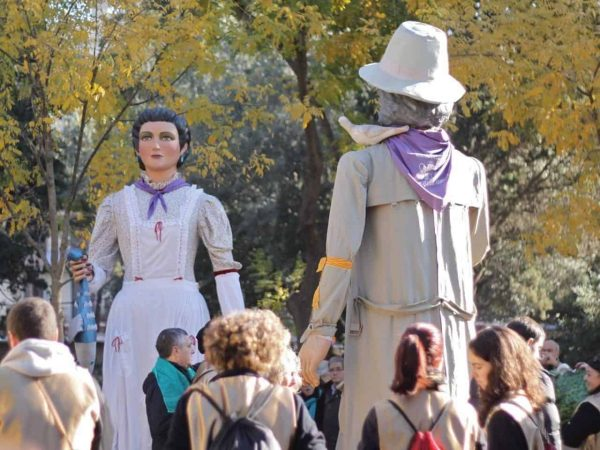 "See the ""gegants"" parade during city festivals is one of the fun things to do in Barcelona."