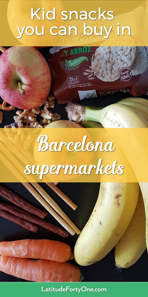 Kid snacks that you can buy in grocery stores in Barcelona