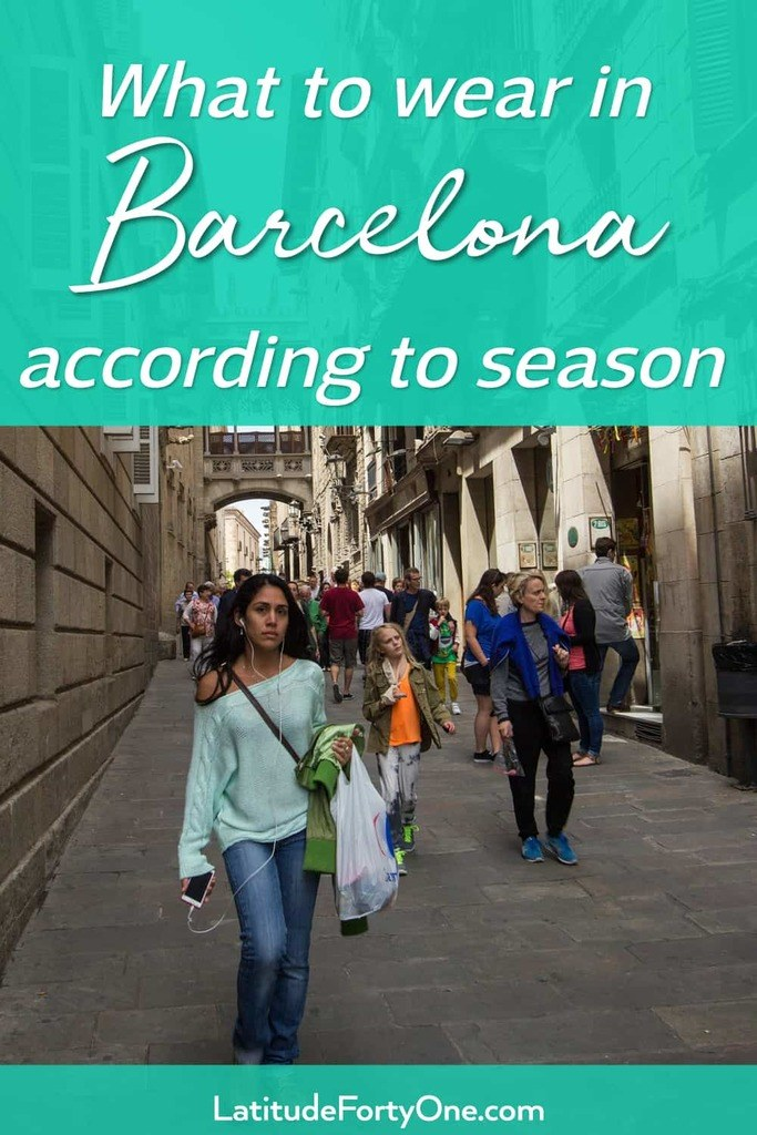 What to wear in Barcelona according to season