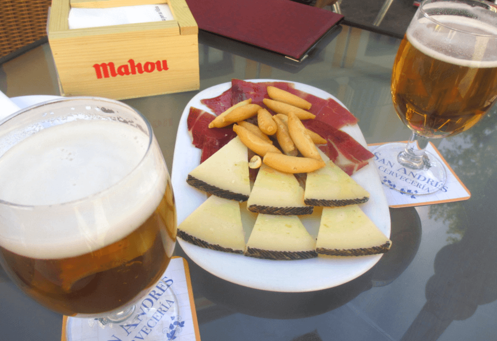 Must eat in Madrid: queso manchego and jamon, of course