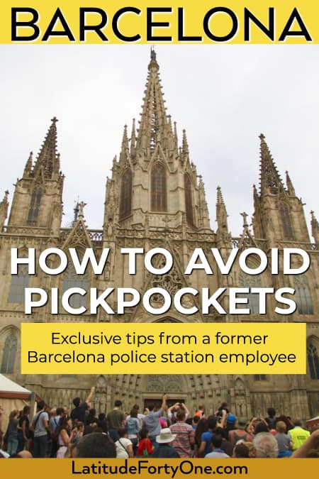 Don't get mugged in Barcelona, Spain, Europe