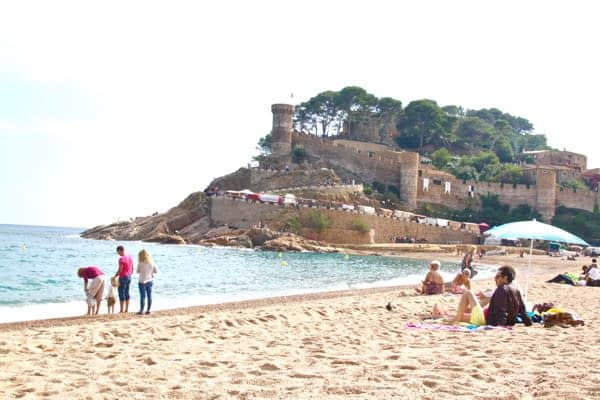 The best day trips from Barcelona Spain: Tossa de Mar