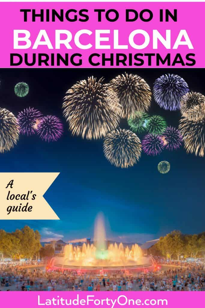 Things to do in Barcelona during Christmas