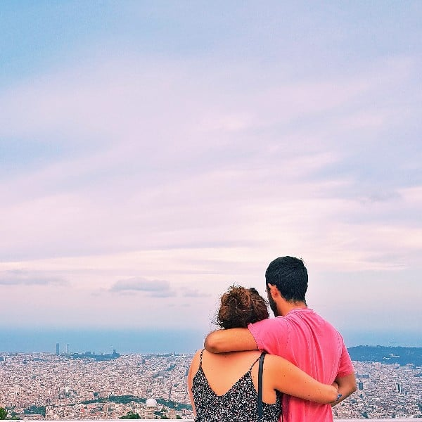 See the panorama of Barcelona, a Tibidabo view
