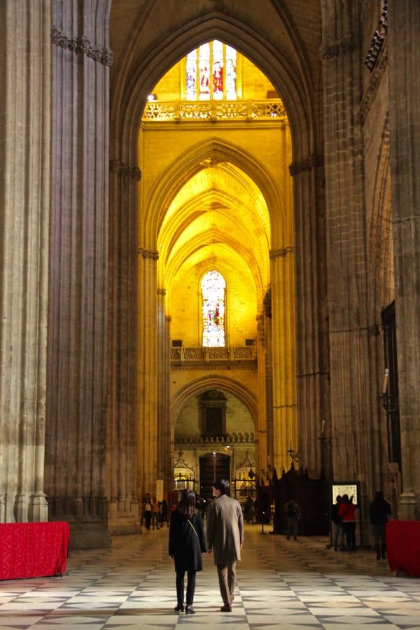 Visit the Cathedral: one of the best things to do in Seville, Spain