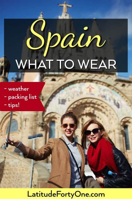What to wear in Spain in October, March, or any other season! Packing list, tips and more!