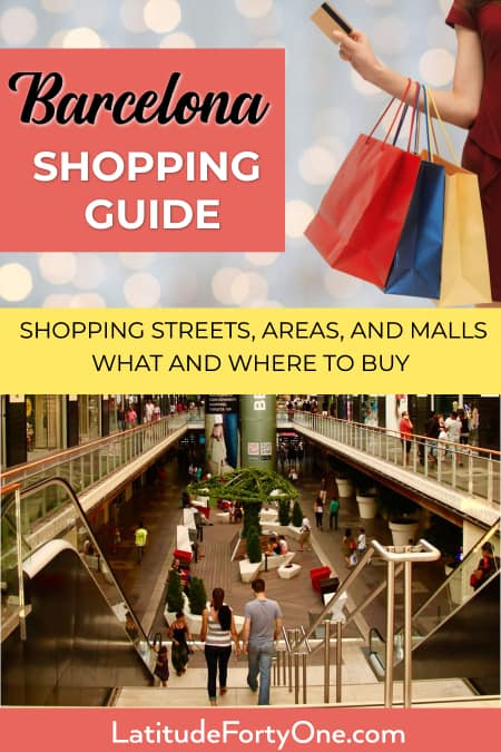 Where to find the best Barcelona shopping area
