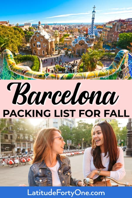 What to wear in Barcelona: September, October, November