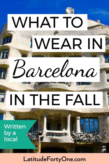 What to wear in Barcelona in the fall