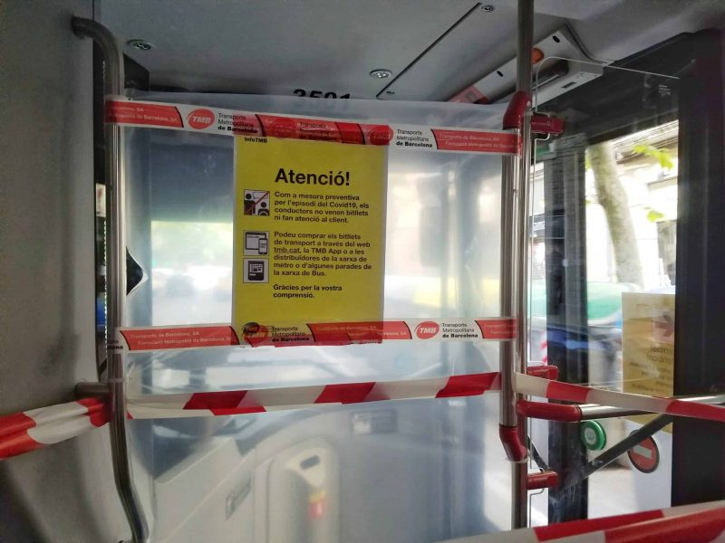 Barcelona bus driver cannot attend passengers coronavirus