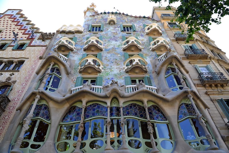 Casa Batllo, one of the most famous monuments of Spain